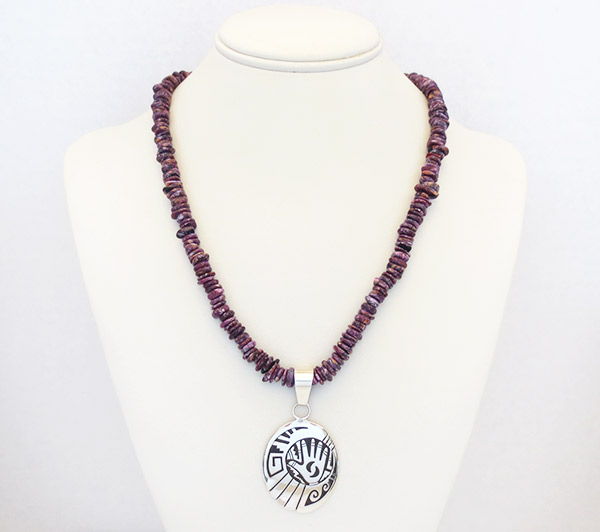 Image 1 of        Purple Spiny Oyster Necklace 30