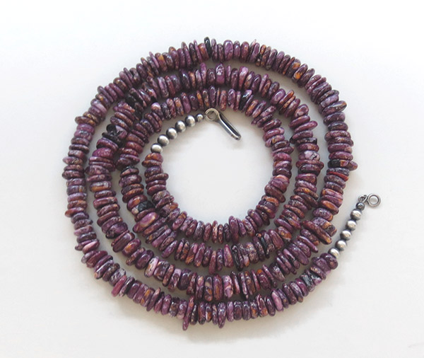 Image 0 of     Purple Spiny Oyster Necklace 30