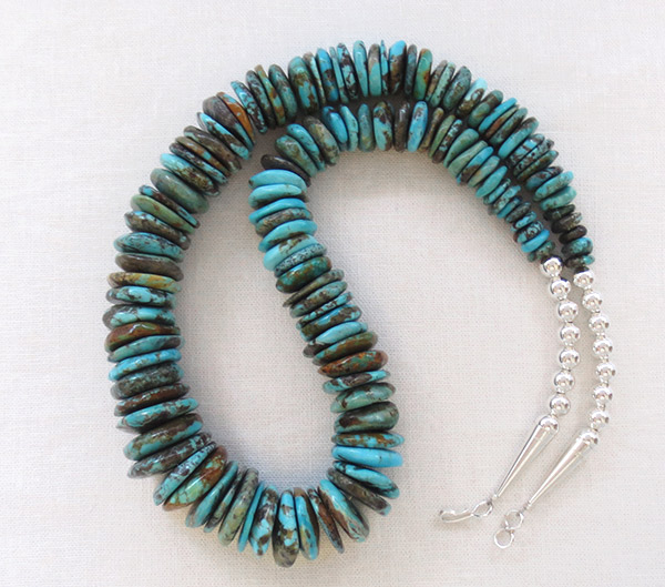 Turquoise & Sterling Silver Necklace 21 Native American Jewelry - 1704rb