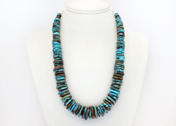 Image 0 of     Turquoise & Sterling Silver Necklace 21