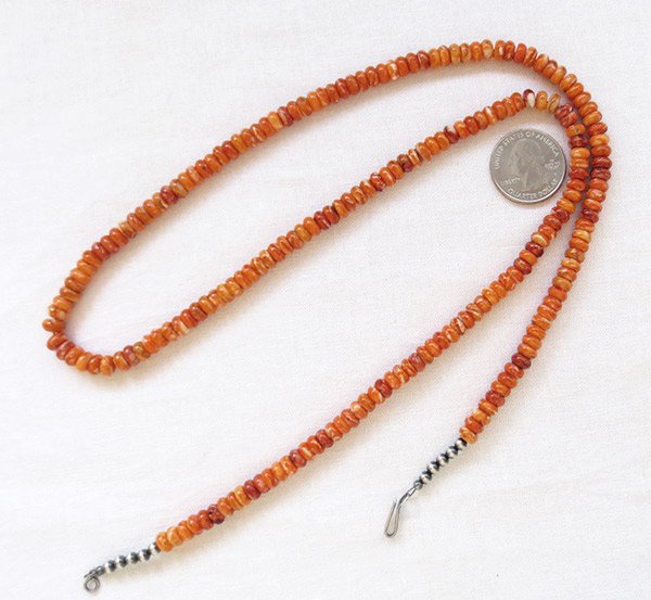 Image 0 of Orange Spiny Oyster Necklace 29