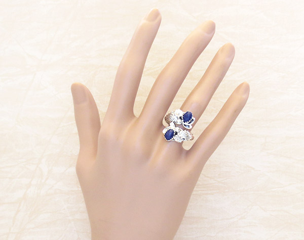 Image 1 of         Lapis & Sterling Silver Adjustable Ring Native American Jewelry - 1736rb