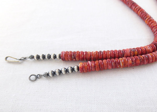 Image 1 of Red Spiny Oyster Bead Necklace 24