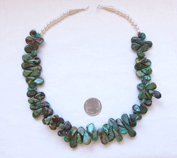 Image 3 of  Turquoise & Sterling Silver Necklace 20