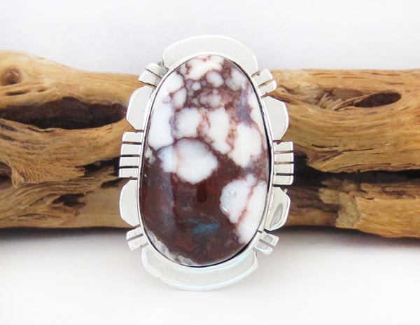 Native American Jewelry Wild Horse Stone & Sterling Silver Ring Sz 6.5 - 1782sn