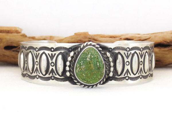 Image 0 of    Turquoise & Sterling Silver Bracelet Native American Jewelry - 1314rb