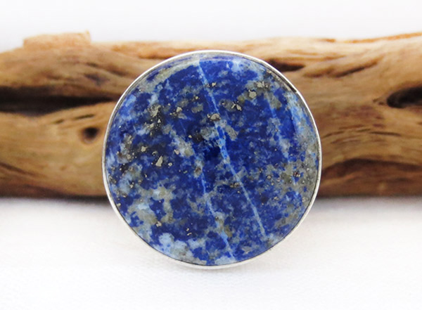Denim Lapis & Sterling Silver Ring sz 7.75 Native American Jewelry - 1316sn