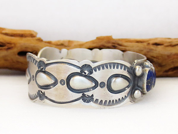 Image 2 of     Lapis Sterling Silver Bracelet Native American Jewelry - 1405sn