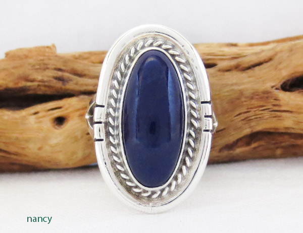 Lapis & Sterling Silver Ring Sz 6 Native American Jewelry - 1452dt