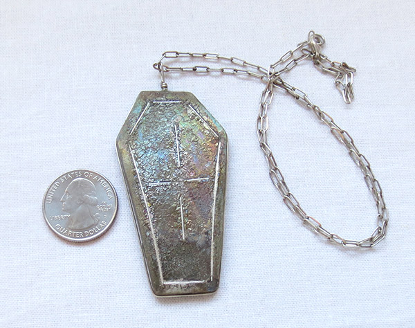 Image 0 of    Taos Pueblo Mica Clay Northstar & Sterling Silver Pendant  - 1457plh