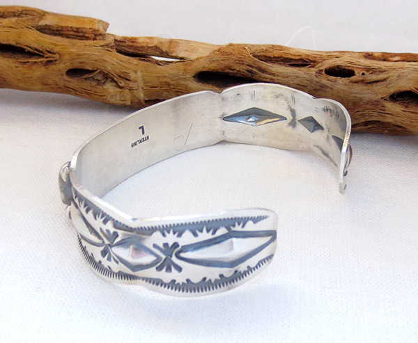 Image 3 of Spiny Oyster Sterling Silver Bracelet Native American Jewelry - 1459sn