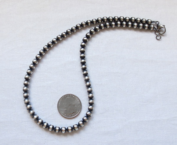Image 1 of Sterling Silver Desert Pearl Necklace 18