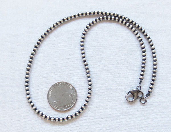 Image 0 of  Sterling Silver Desert Pearl Bead Necklace 18