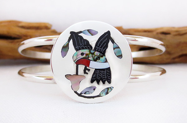 Image 0 of Hummingbird Inlay Bracelet Zuni Native American Jewelry - 2314dt
