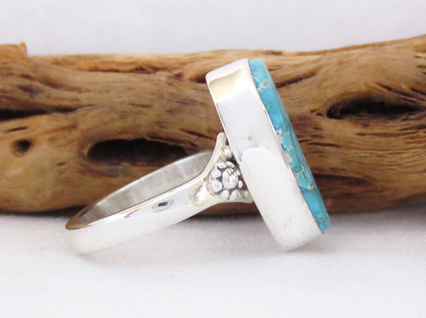 Image 2 of      Turquoise & Sterling Silver Ring Sz 8 Native American Jewelry - 2331sn
