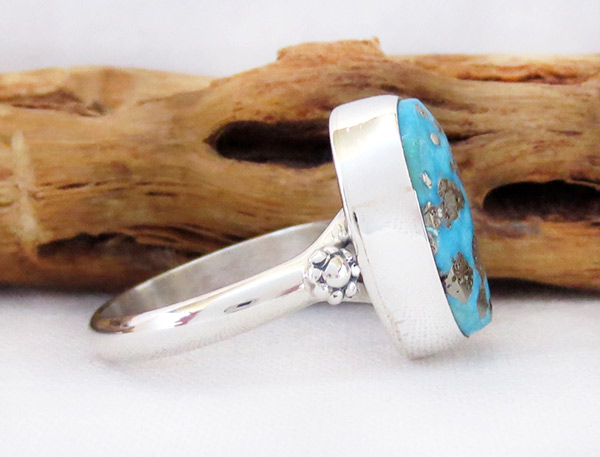 Image 2 of        Turquoise & Sterling Silver Ring Sz 9 Native American Jewelry - 2336sn