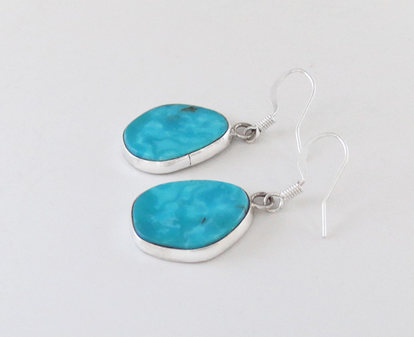 Image 1 of   Turquoise & Sterling Silver Earrings Native American Jewelry - 2335rio