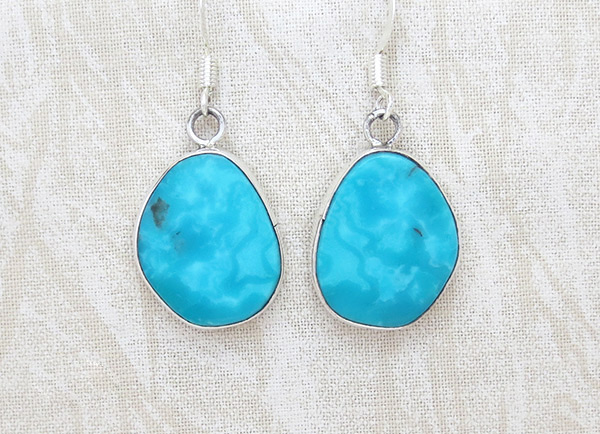 Image 0 of     Turquoise & Sterling Silver Earrings Native American Jewelry - 2335rio