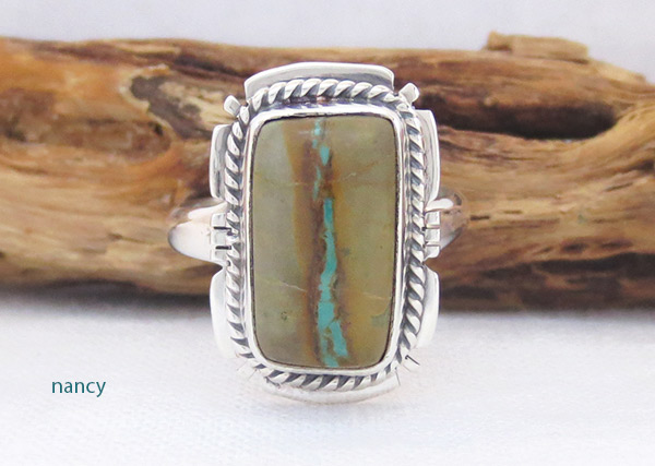 Image 0 of   Boulder Turquoise & Sterling Silver Ring Sz 7 Native American Jewelry - 2352sn