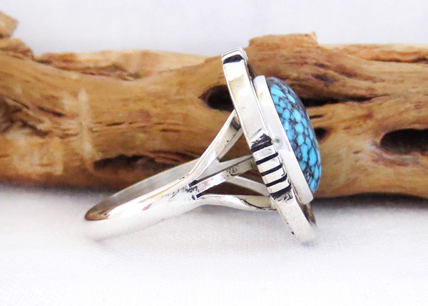 Image 2 of Native American Jewelry Turquoise & Sterling Silver Ring Sz 9.25 - 2356dt