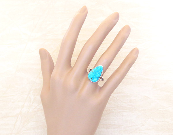 Image 1 of         Turquoise & Sterling Silver Ring Sz 7 Native American Jewelry - 2354sn