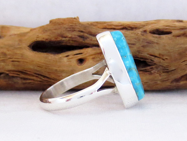 Image 2 of Turquoise & Sterling Silver Ring Sz 7 Native American Jewelry - 2354sn