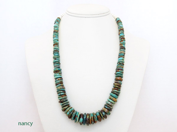 Image 1 of    Turquoise & Sterling Silver Necklace 21