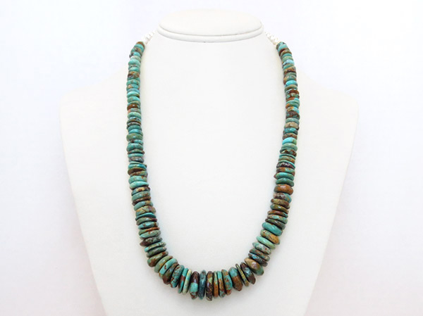 Image 2 of      Turquoise & Sterling Silver Necklace 21