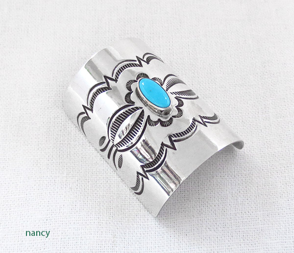 Image 0 of Sterling Silver Turquoise Pony Tail Holder / Cover Native American - 2513rio