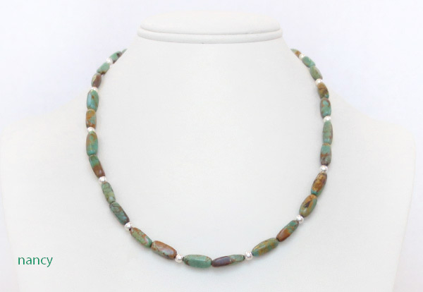 Image 0 of     Turquoise & Sterling Silver Necklace 18