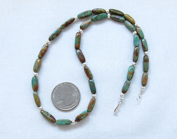 Image 1 of Turquoise & Sterling Silver Necklace 18