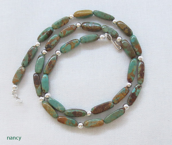 Image 2 of Turquoise & Sterling Silver Necklace 18