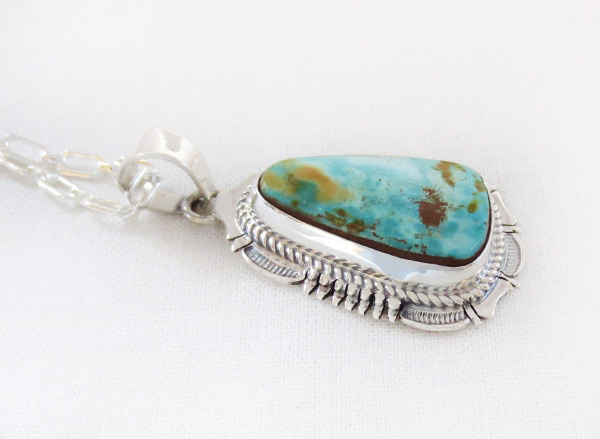 Image 2 of        Royston Turquoise & Sterling Silver Pendant Navajo Jewelry - 2512br