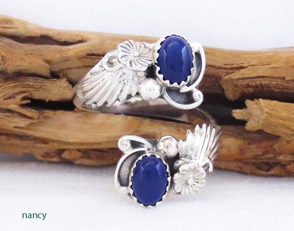Image 0 of Native American Jewelry Lapis & Sterling Silver Adjustable Ring - 2524rb