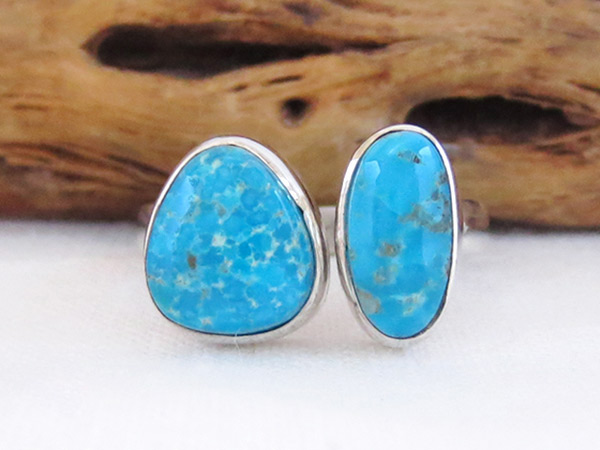 Sterling Silver & Turquoise Ring Sz 8 Native American Jewelry - 2527sn