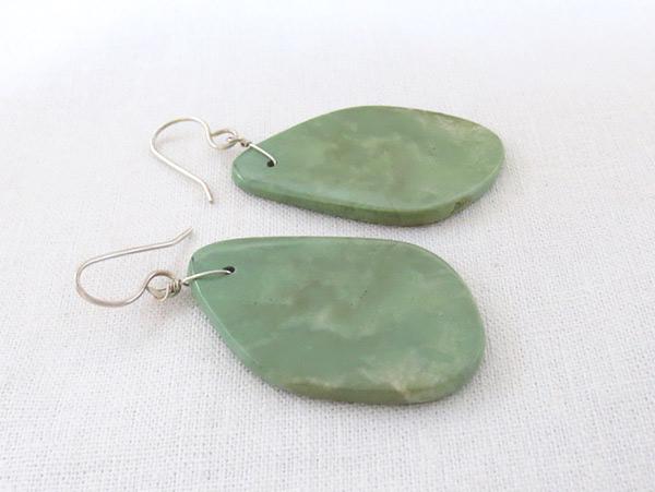 Image 1 of    Turquoise Slab Earrings Native American Jewelry Kewa - 2534rio
