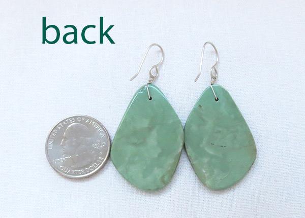 Image 2 of    Turquoise Slab Earrings Native American Jewelry Kewa - 2534rio