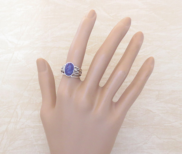 Image 1 of     Charoite & Sterling Silver Ring Sz 6 Native American Jewelry - 2538sn