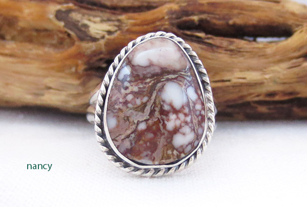 Image 0 of    Navajo Jewelry Wild Horse Stone & Sterling Silver Ring Sz 6 - 3415sn