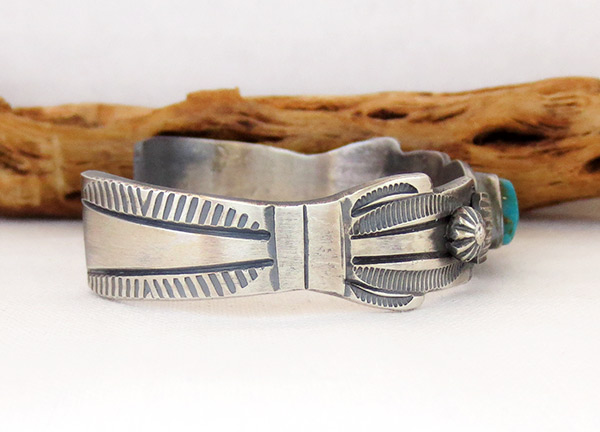 Image 2 of     Sterling Silver & Turquoise Bracelet Native American Jewelry - 3701dt