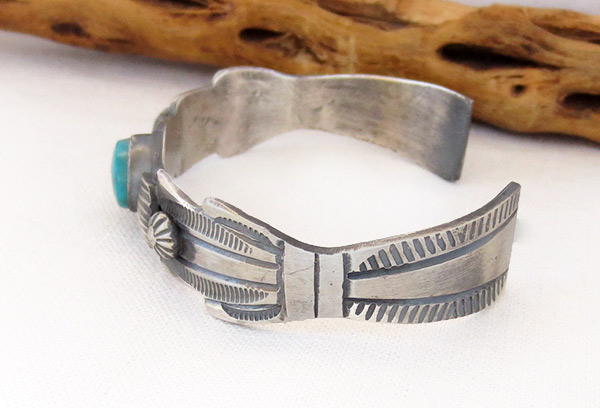 Image 3 of     Sterling Silver & Turquoise Bracelet Native American Jewelry - 3701dt