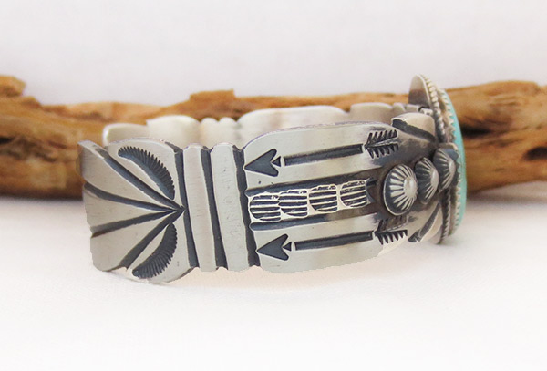 Image 2 of       Sterling Silver & Turquoise Bracelet Navajo Jewelry - 3714dt