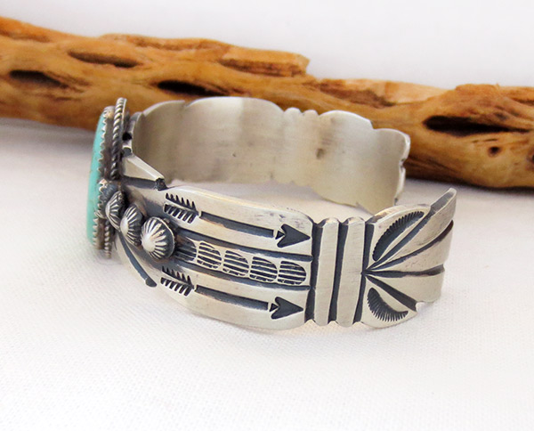 Image 3 of       Sterling Silver & Turquoise Bracelet Navajo Jewelry - 3714dt