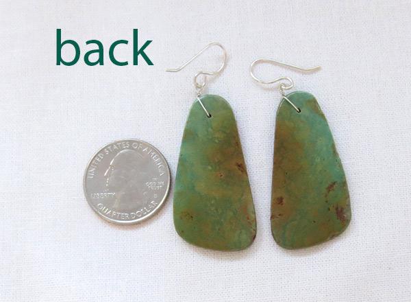 Image 2 of      Turquoise Slab Earrings Santo Domingo Jewelry - 3721rio