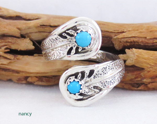 Turquoise & Sterling Silver Adjustable Ring Native American Jewelry - 3725rb