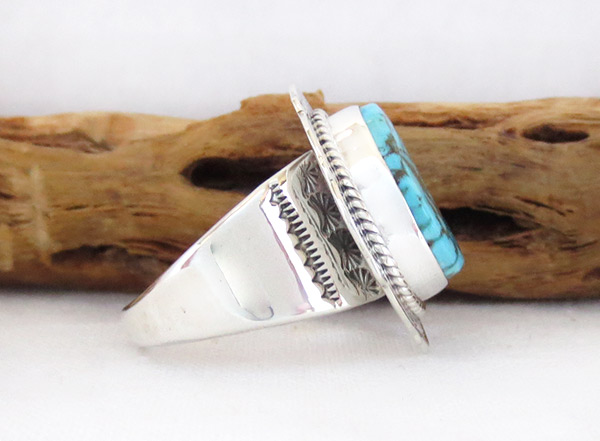 Image 2 of     Turquoise & Sterling Silver Ring Ss 10.5 Native American Jewelry - 3240sn