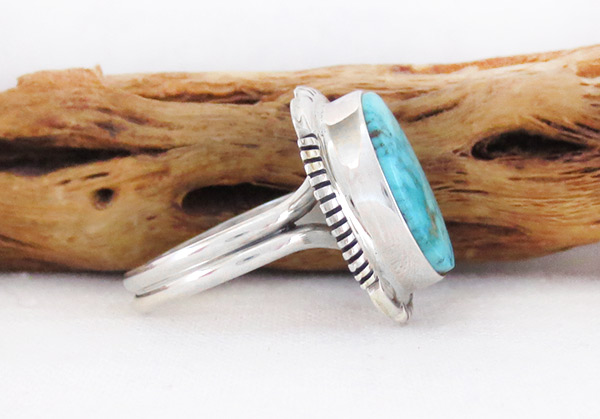 Image 2 of      Turquoise & Sterling Silver Ring Sz 9.5 Native American Jewelry - 2607at