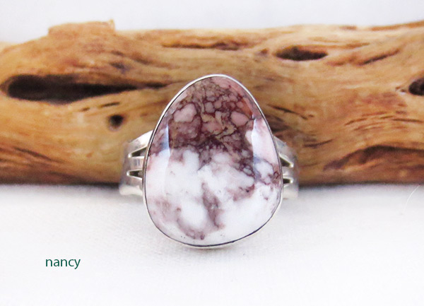 Image 0 of    Wild Horse Stone & Sterling Silver Ring Sz 6.75 Navajo Jewelry - 3307sn