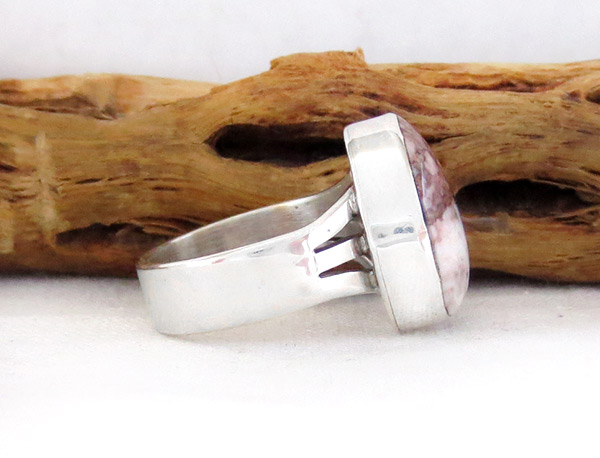 Image 2 of    Wild Horse Stone & Sterling Silver Ring Sz 6.75 Navajo Jewelry - 3307sn