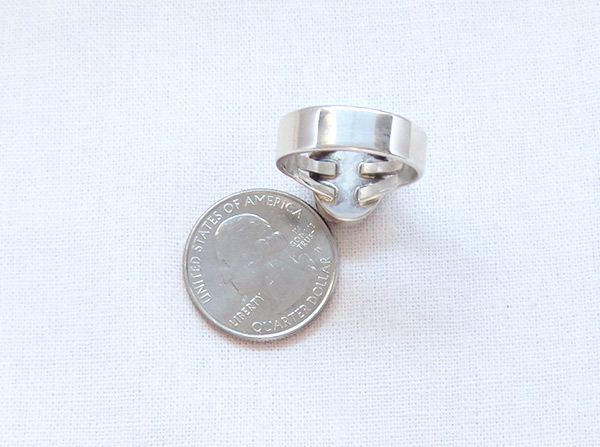 Image 3 of    Navajo Jewelry Wild Horse Stone & Sterling Silver Ring size 9 - 3316sn